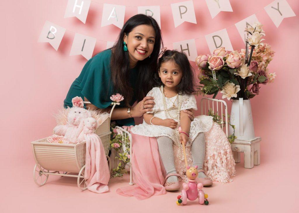 Asian family photoshoot for a birthday