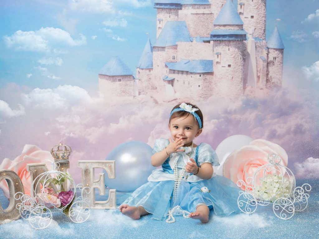 baby girl in a fairy-tale outfit