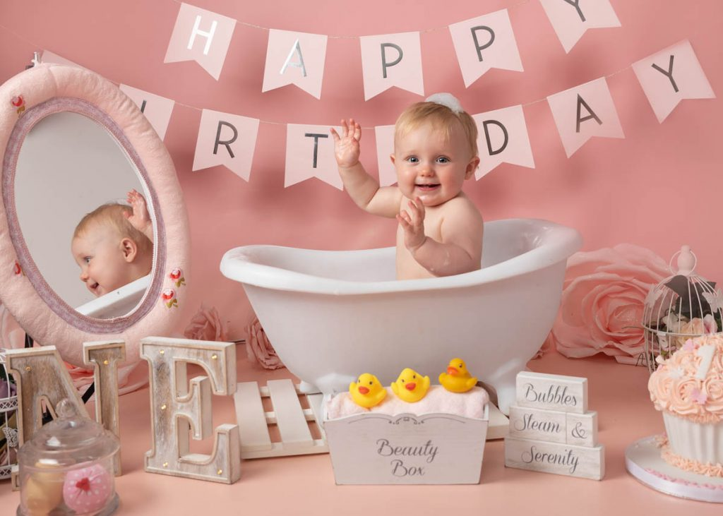 Baby Splashing for Newborn Photoshoot