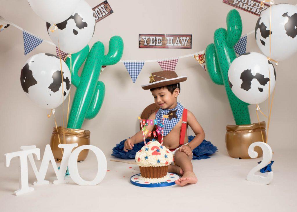 second birthday themed photoshoot