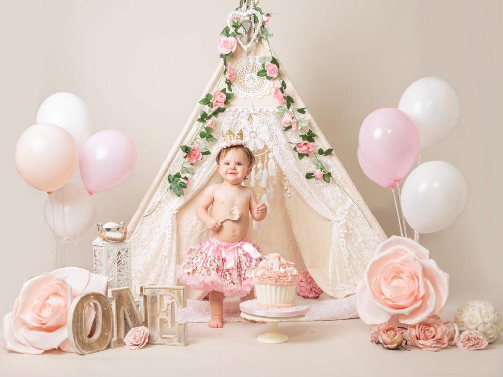 elegant style baby photoshoot