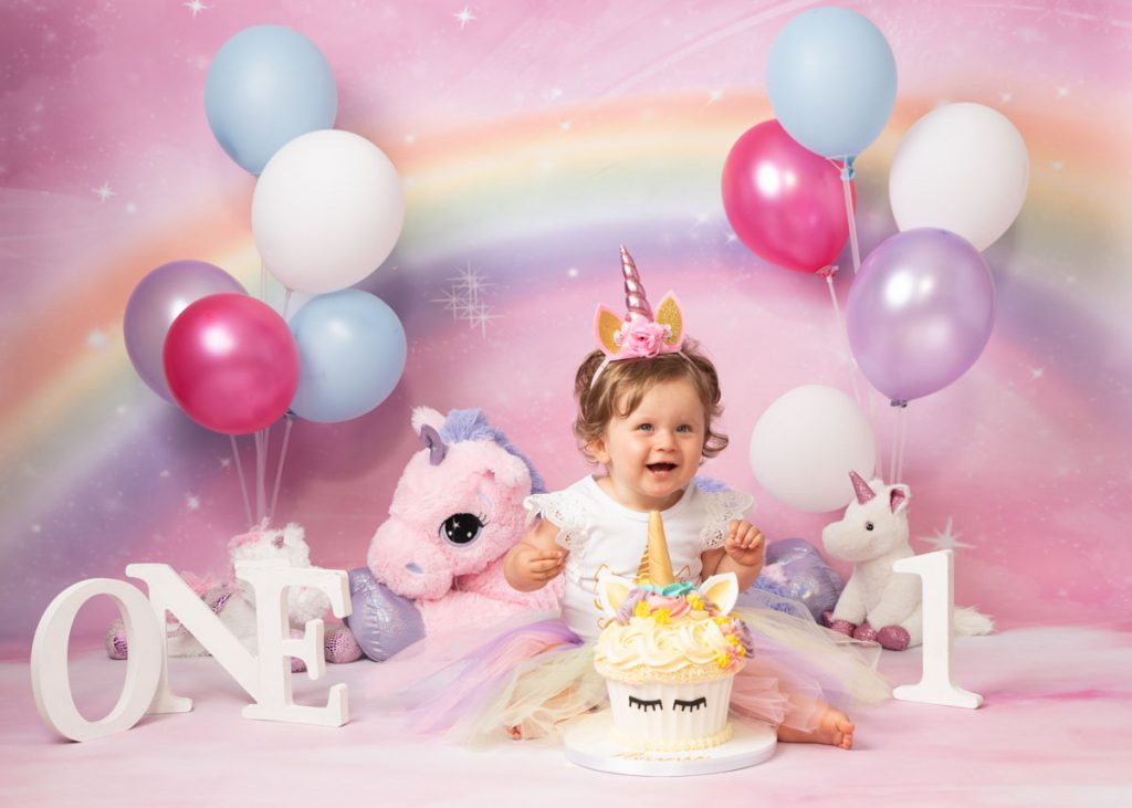 unicorn land my first birthday photoshoot