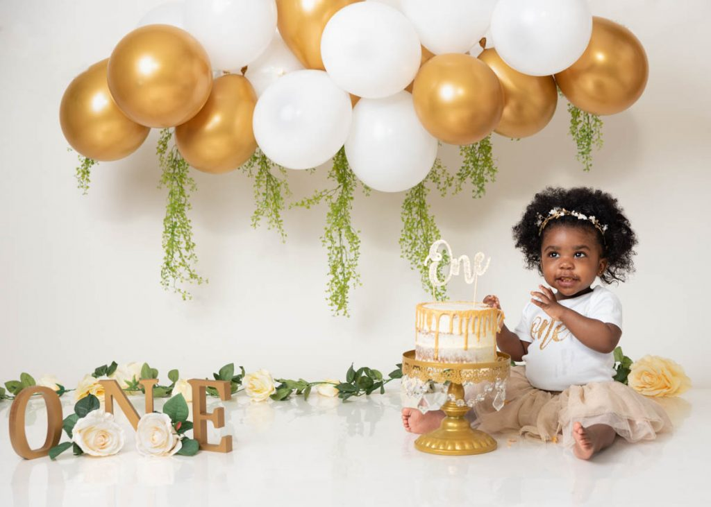 my first birthday cake smash photoshoot