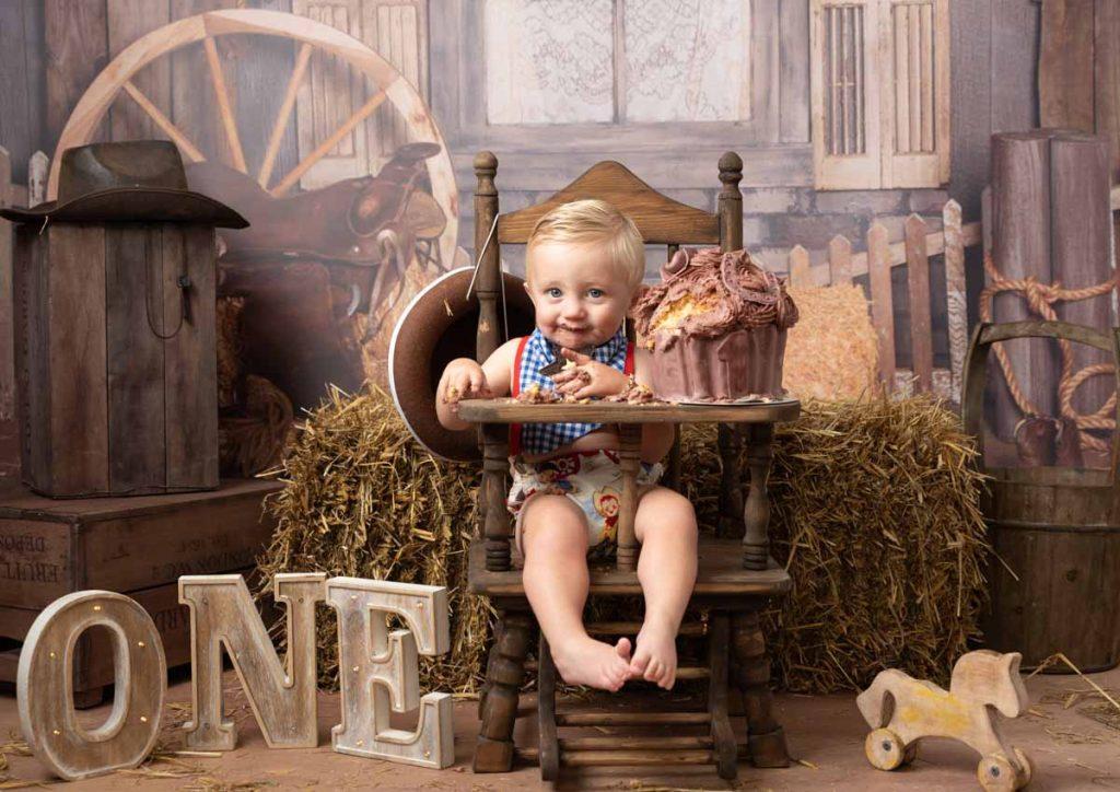cowboy themed my first birthday photoshoot