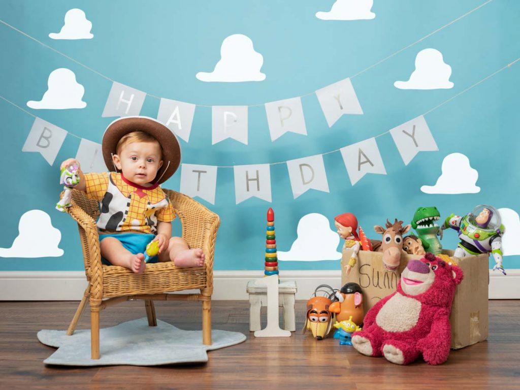 Toy Story Inc baby first birthday photoshoot