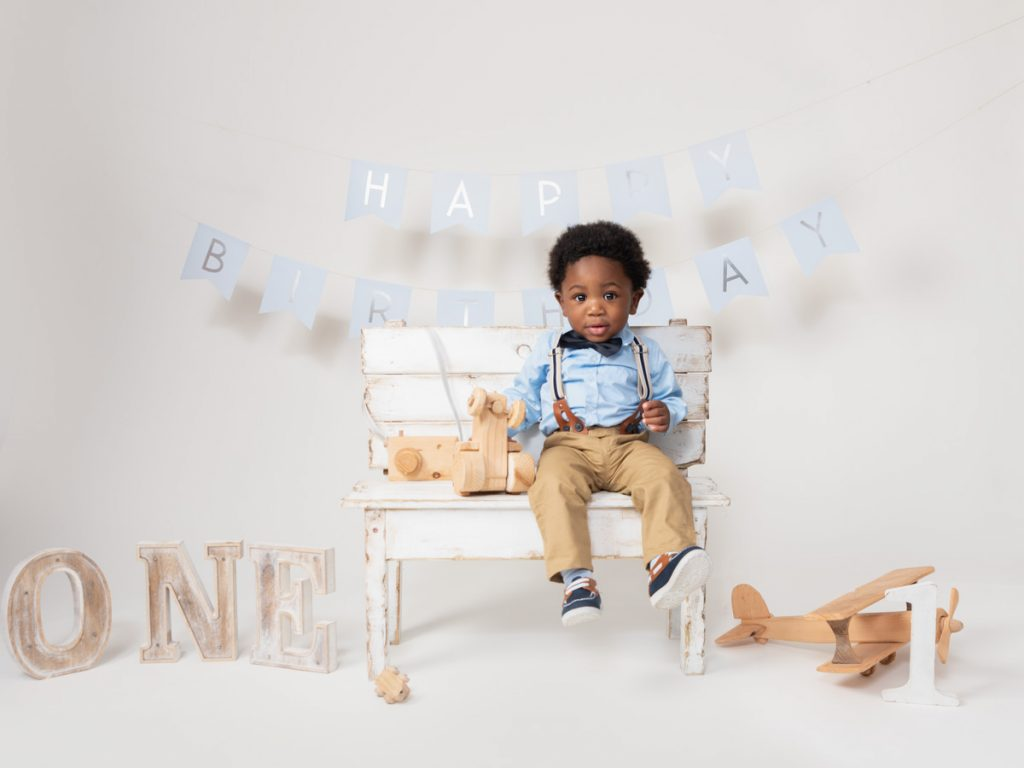 cute little suit first birthday photoshoot