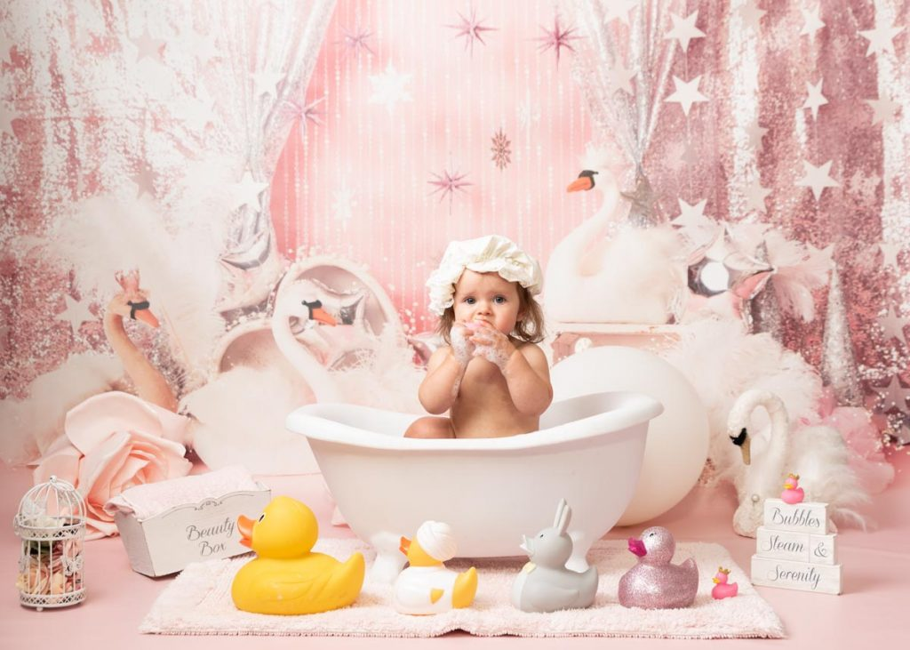 swans and ducks and bubbles photoshoot