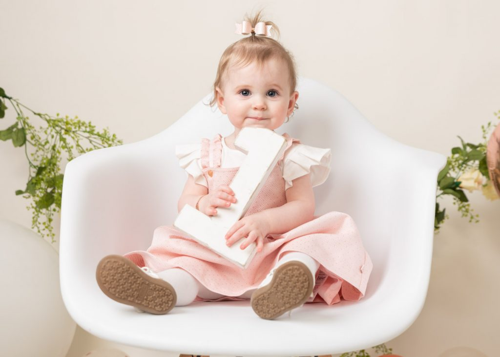 my first birthday photoshoot in a chair