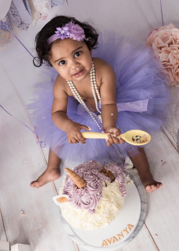 little princess in purple