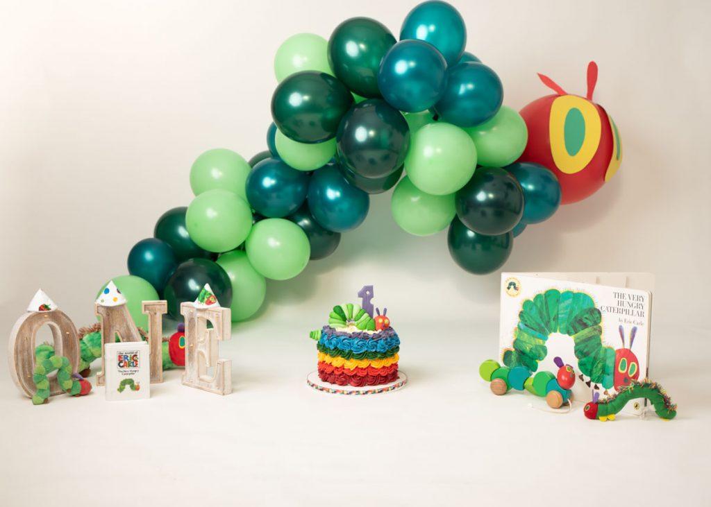 The very hungry caterpillar first birthday photoshoot