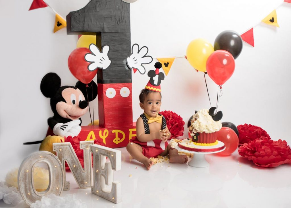 mickey mouse themed photoshoot