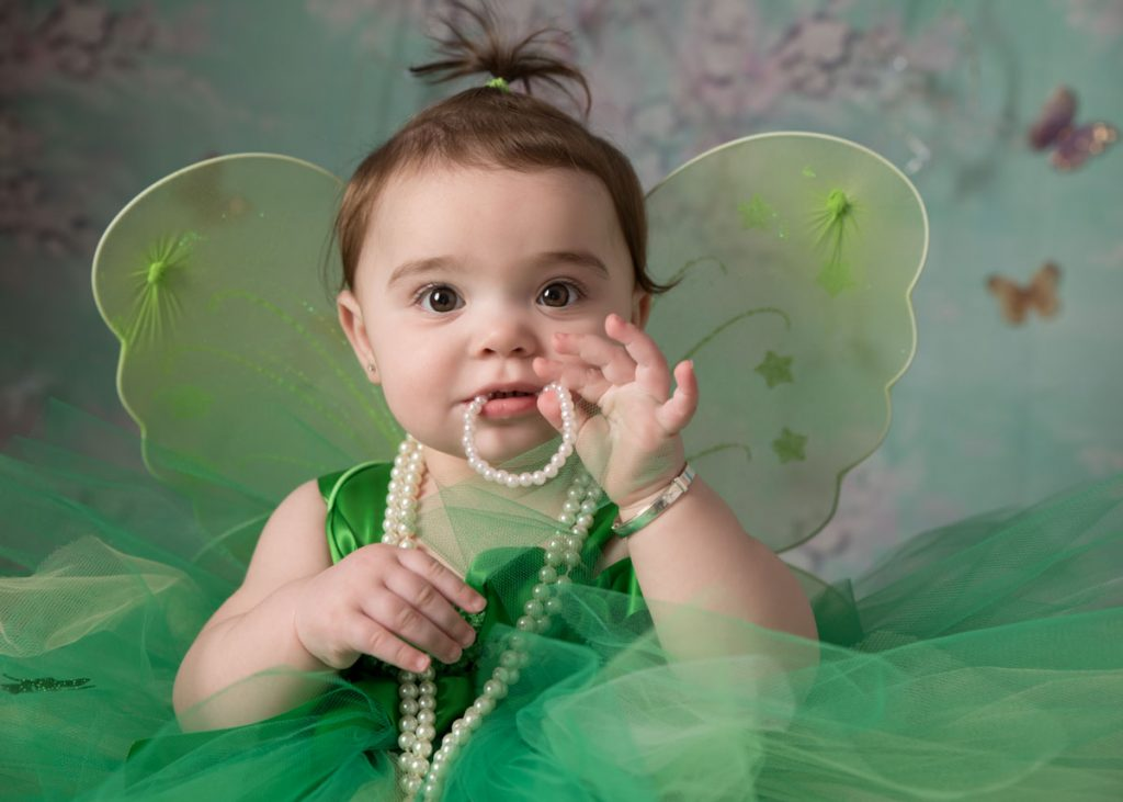 close up of little green fairy