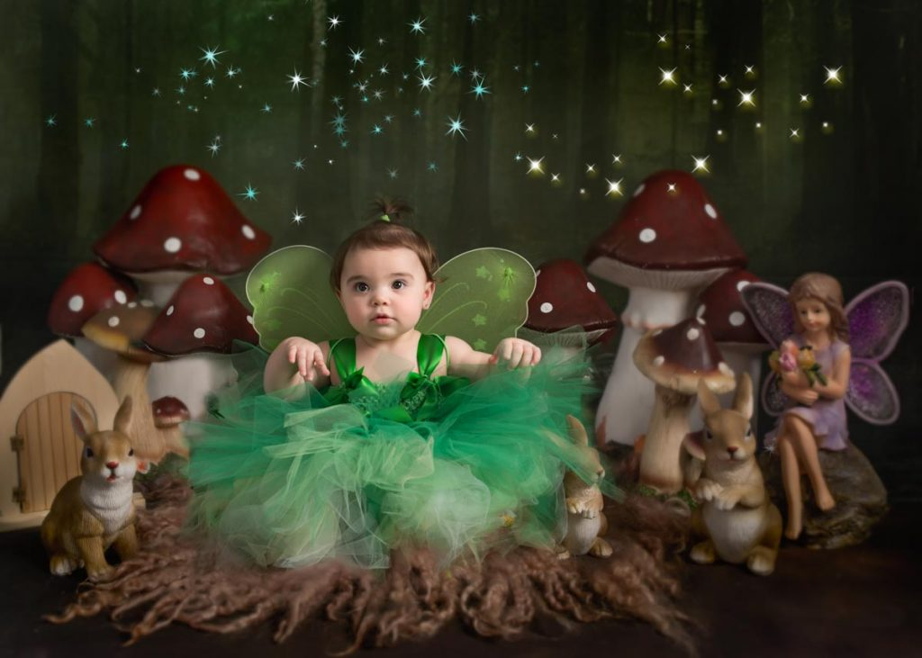 little green fairy in the woods