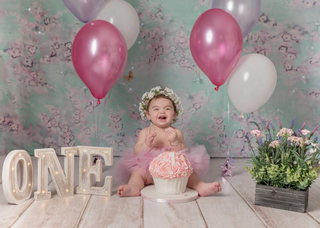 floral baby and theme