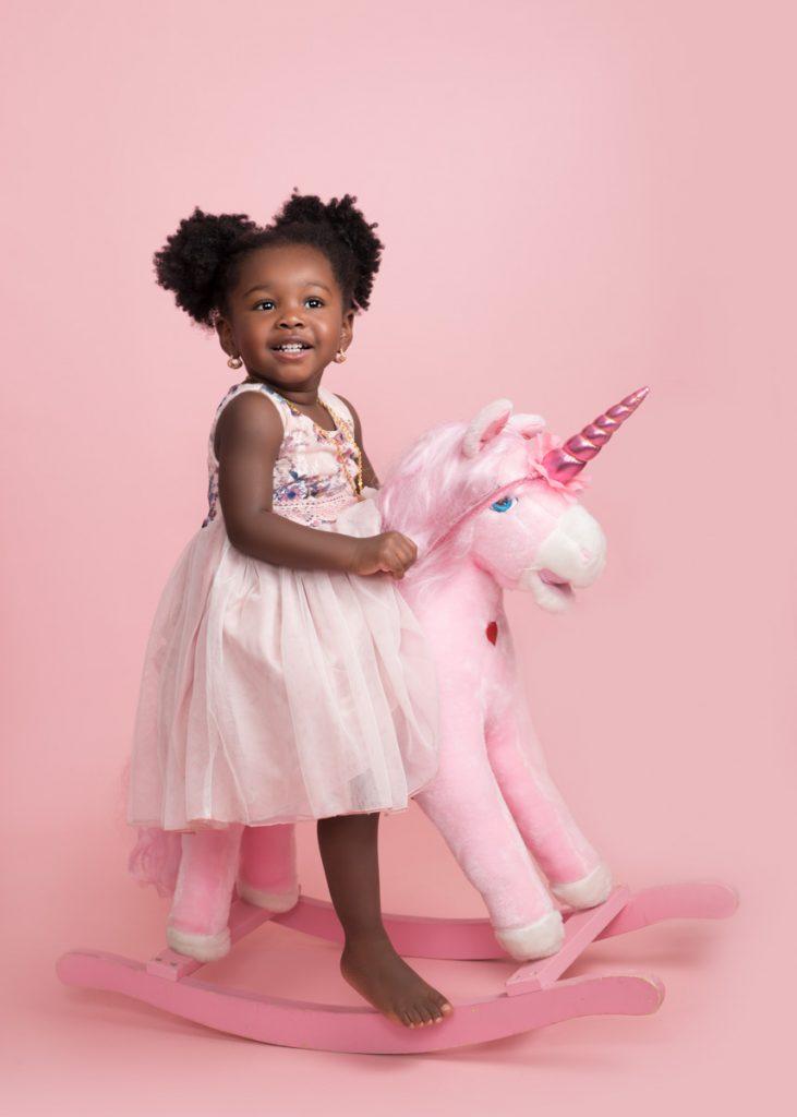 unicorn themed photoshoot