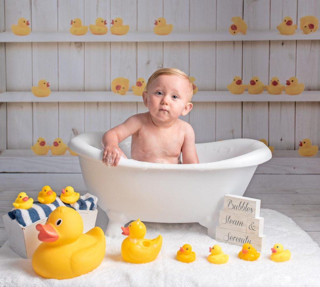 foamy baby in the bathtub