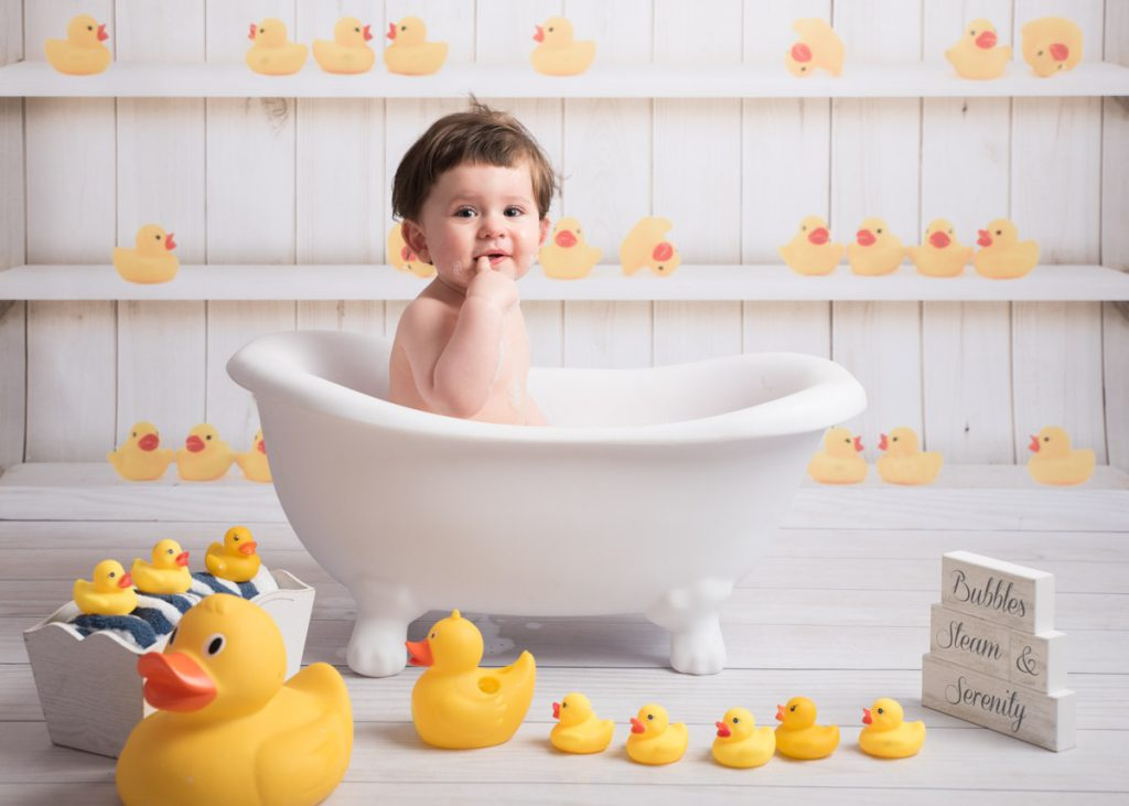 ducks and bubbles, the perfect way for baby to relax