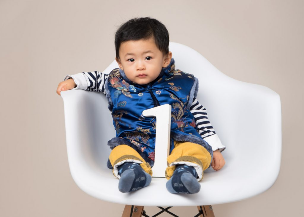 gorgeous oriental baby jacket with beautiful baby boy