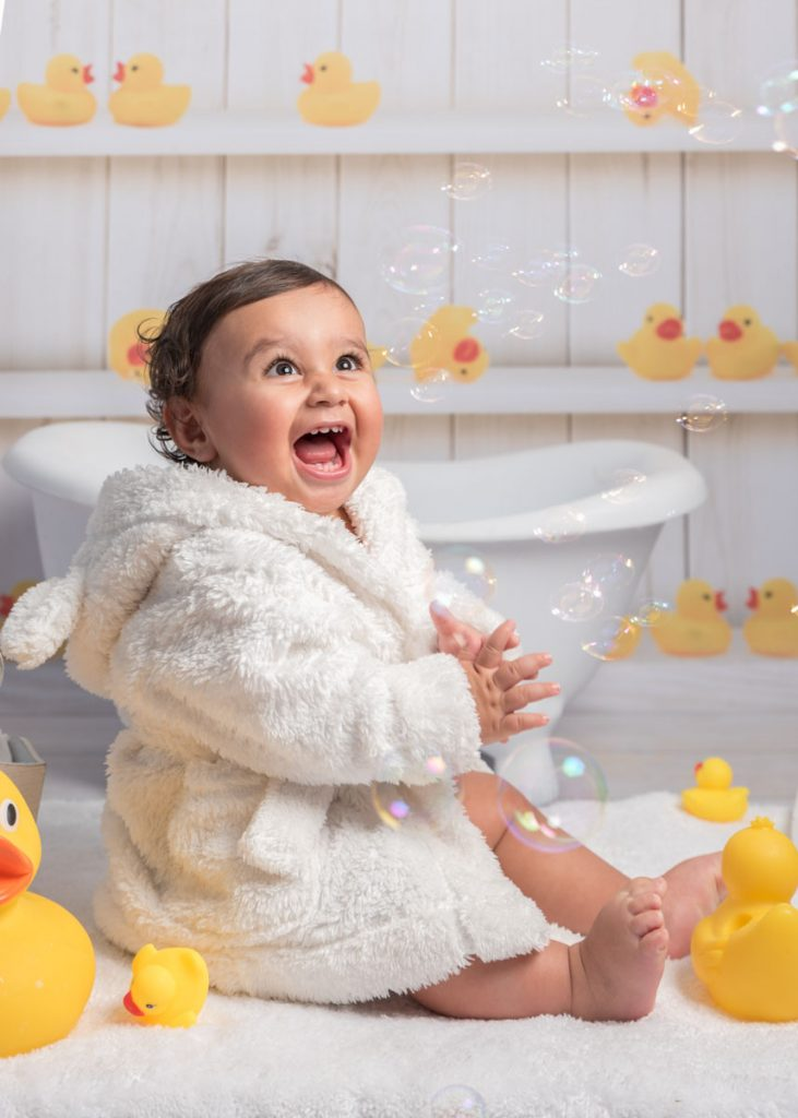 bubbles and bathrobe baby