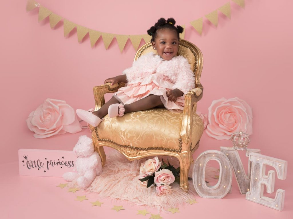 little princess on her throne