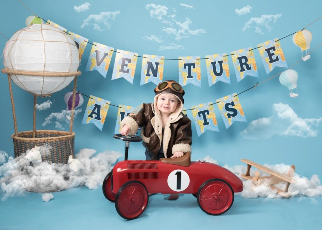 toy car and hot air balloon themed adventure