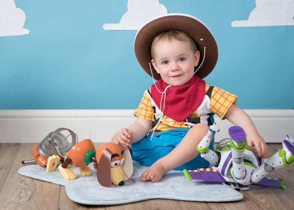 toy story themed first birthday, Andy the cowboy
