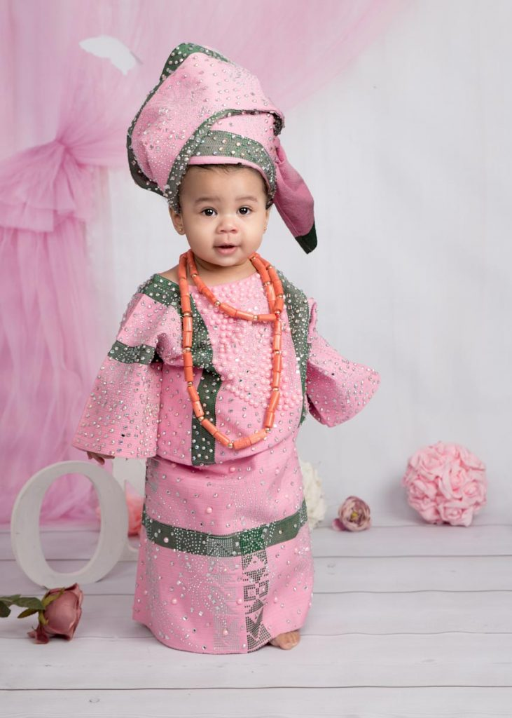 gorgeous pink outfit for a baby's first birthday