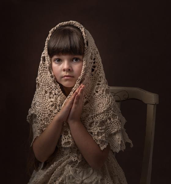 holy girl fine art photography