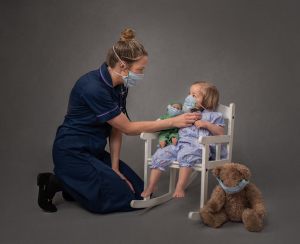 nurse and young girl fine art photography session