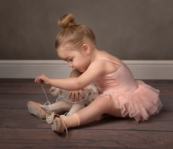baby ballerina lacing doll's slippers