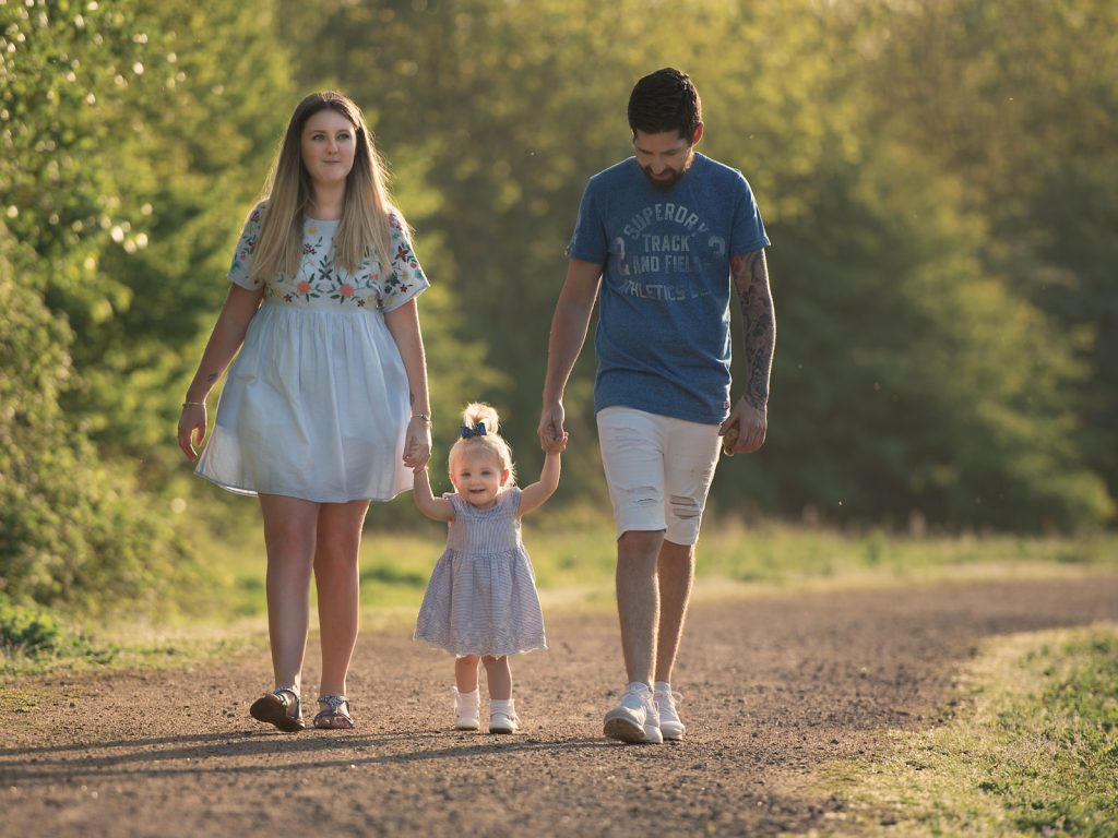 family with baby toddler location photoshoot