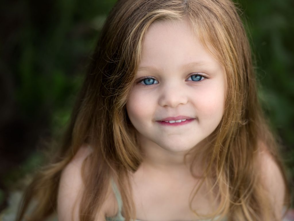 close up of a child's face location photoshoot