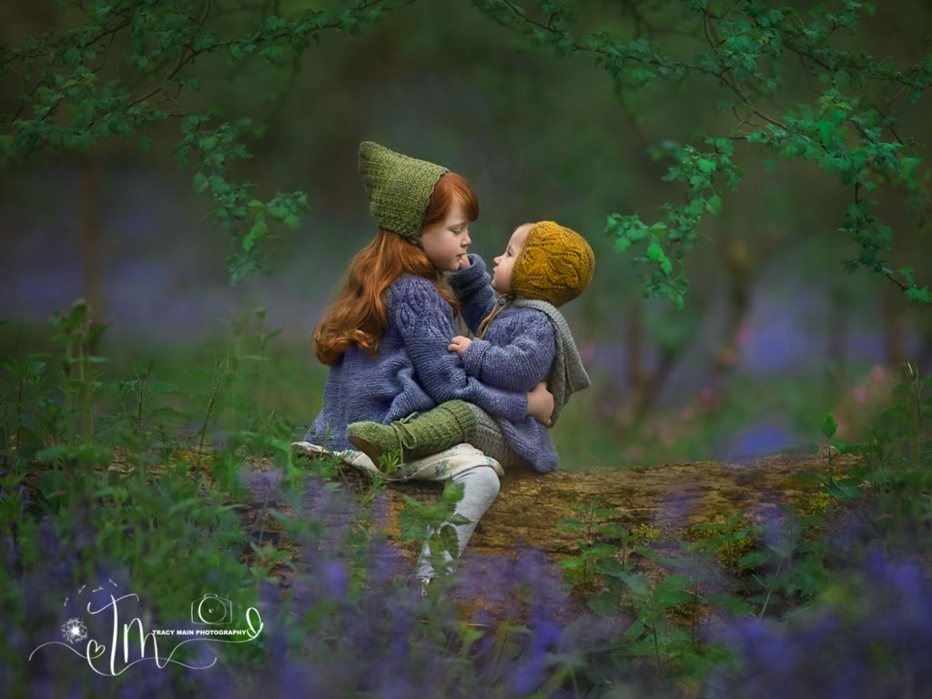 bluebells and woods children location photoshoot