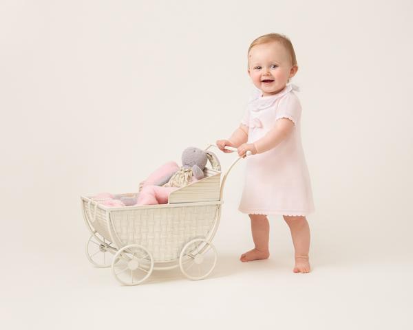 professional photoshoot baby walking