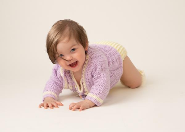 professional photoshoot baby crawling