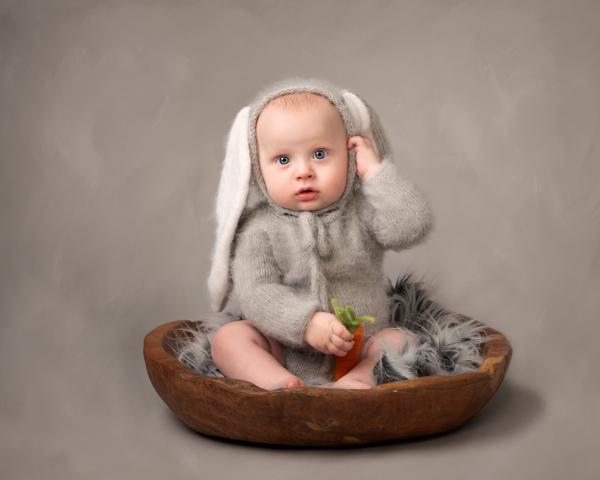 easter rabbit baby photoshoot