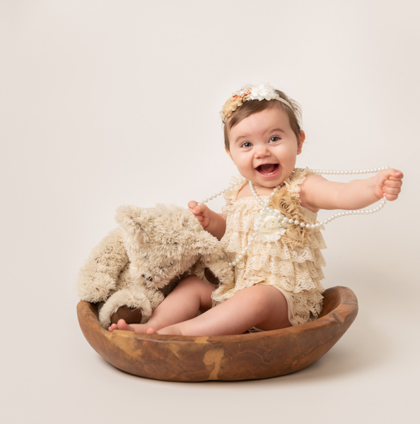 vintage theme baby and bear