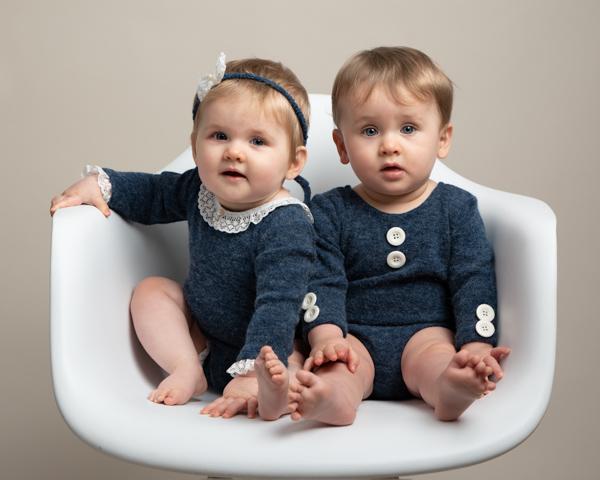 twin baby photoshoot