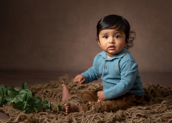 Baby photograph nature style