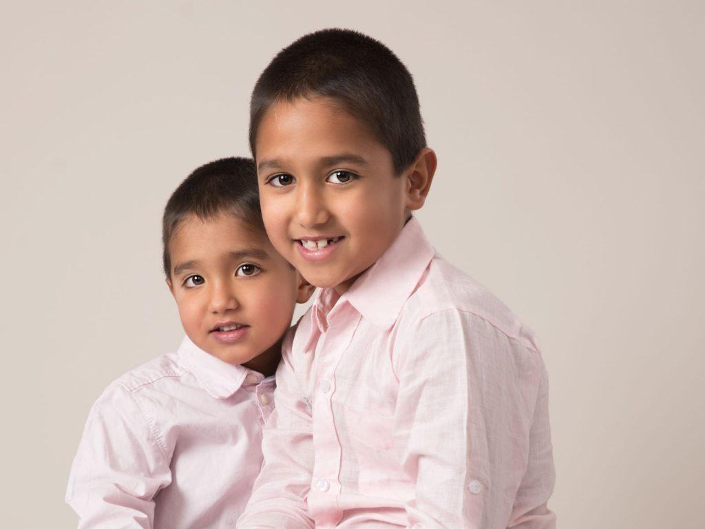 two brothers studio photoshoot