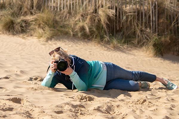 Tracy Main at beach
