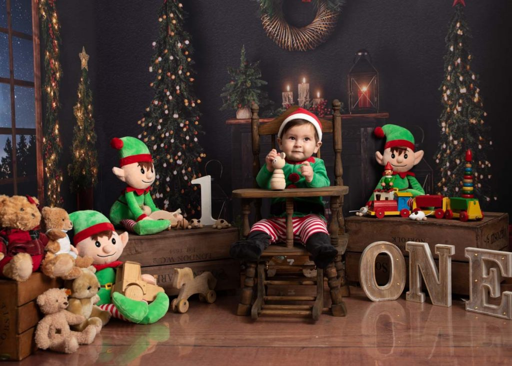 little Christmas elf working