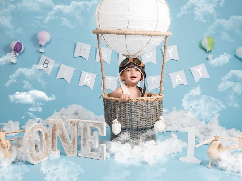 first birthday in a hot air balloon