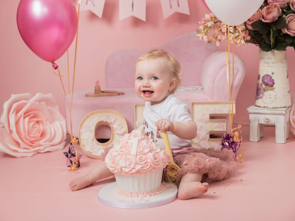 gorgeous in pink baby photography