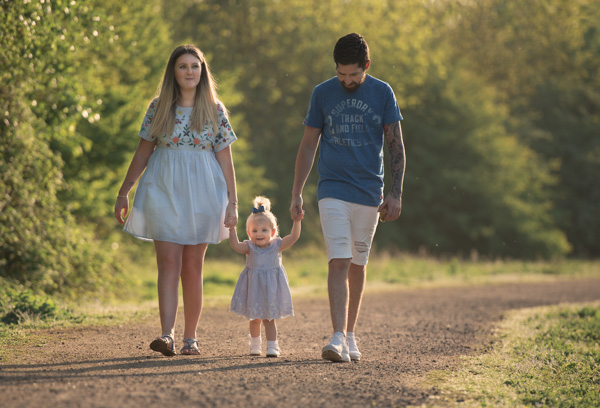 family photoshoot outdoors