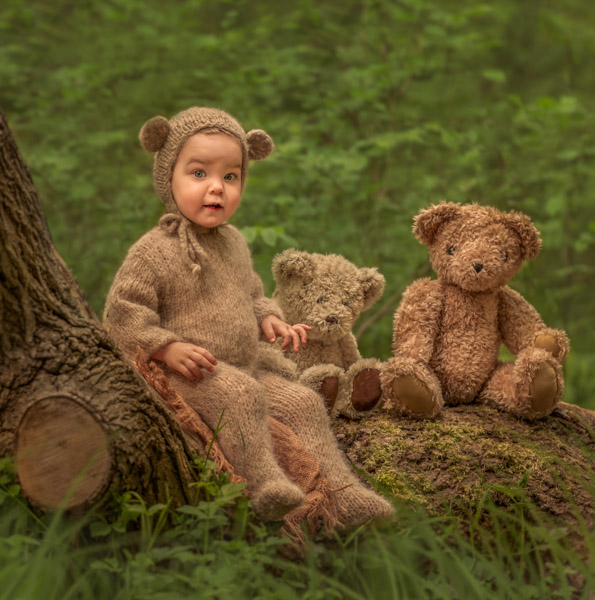 teddy bears' picnic outdoor photography session