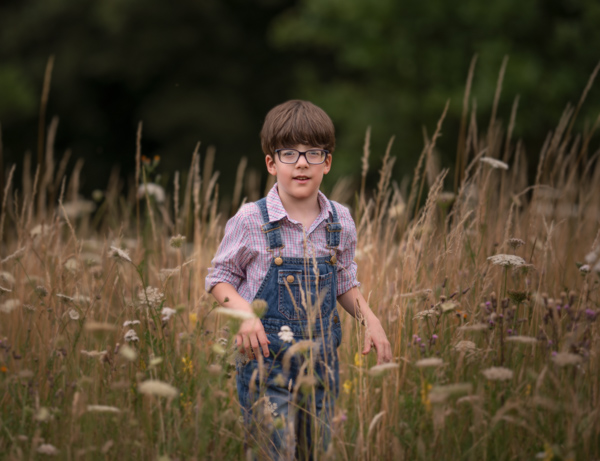 boy in cornfield outdoor photography session