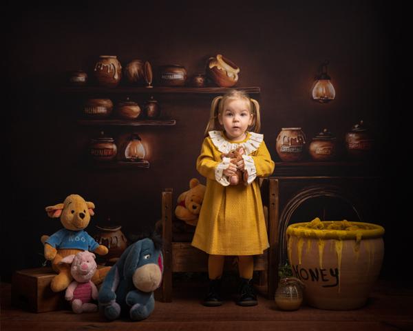 winnie the pooh themed studio photo