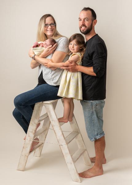 cute family studio photoshoot