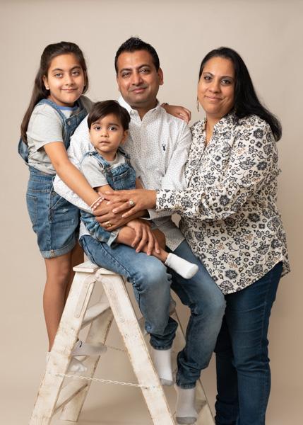 whole family asian photo